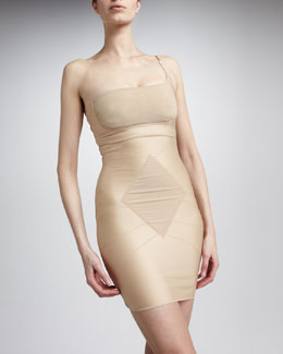 Result Wear Ava One-Shoulder Bra & Grace Strapless Slip, Nude