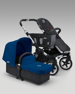 Bugaboo Donkey Stroller & Tailored Fabric Set, Royal Blue