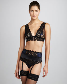 La Perla Secrets of a Geisha Soft Bra, Garter Belt & Thong