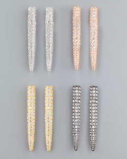 Eddie Borgo Pave Crystal Spike Earrings