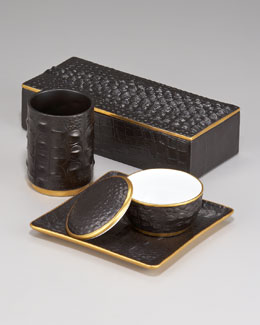 "L'Objet ""Crocodile"" Desk Accessories"