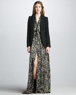 Rachel Zoe Kenny Suit Jacket & Astrid Bishop-Sleeve Gown