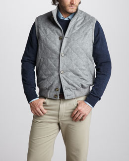 Loro Piana Cashmere Vest, Cashmere Sweater & Denim Shirt