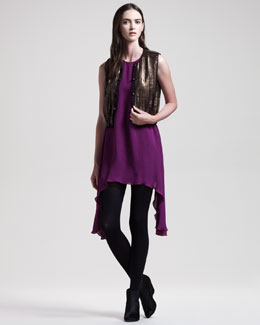 Kelly Wearstler Sequined Jazz Vest & Zappa Silk Dress