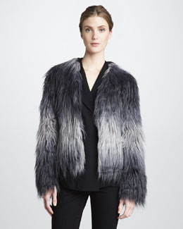 Rachel Zoe Brooklyn Faux-Fur Jacket & Astor Shawl-Collar Top