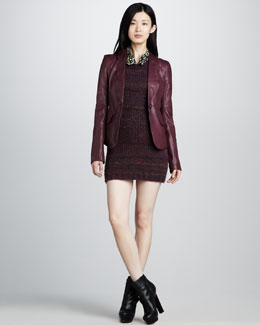 Rachel Zoe Daphne Leather Blazer & Kasia Sweaterdress