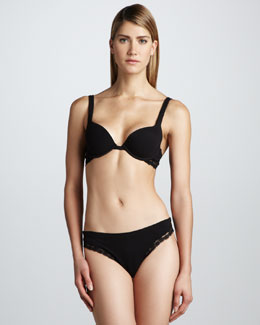 La Perla Dolce Vita Push-Up Bra & Thong, Black