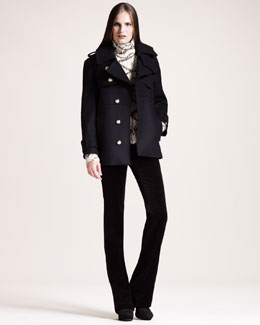 Altuzarra Christopher Short Pea Coat, Maracaibo Sweater & Redwood Velvet Pants