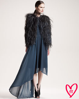 Maison Martin Margiela BG 111th Anniversary Dress & Feather Vest