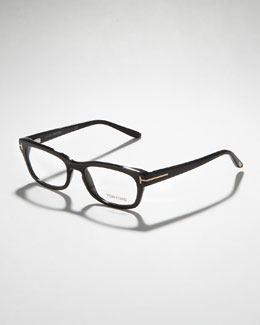 Tom Ford Unisex Semi-Rounded Rectangular Fashion Glasses