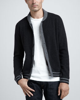 Rag & Bone Saratoga Varsity Sweater Jacket & Basic Tee