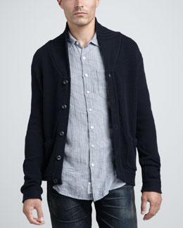 Rag & Bone Monfort Shawl-Collar Cardigan & Beach Striped Sport Shirt