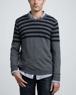 Rag & Bone Bamburg Striped Sweater & Beach Striped Sport Shirt