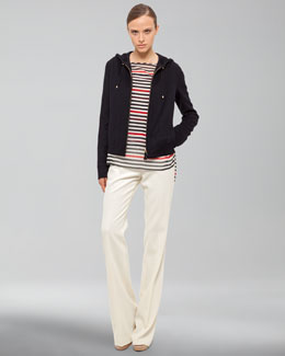 Akris Boat-Neck Blouse, Jacket with Detachable Hood & Full-Length Pants