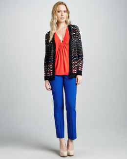 M Missoni Diamond Striped Cardigan, Jersey Hooked Tank & Skinny Pants