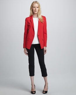 Tibi Single-Button Jacket, Halter-Style Camisole & Slim-Fitting Pants