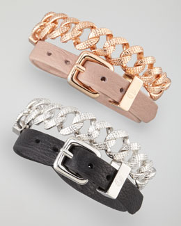 MARC by Marc Jacobs Chain & Leather Wrap Bracelet