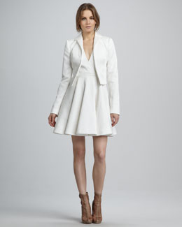 Rachel Zoe Bobby Cropped Jacket & Caroline Faux-Wrap Dress