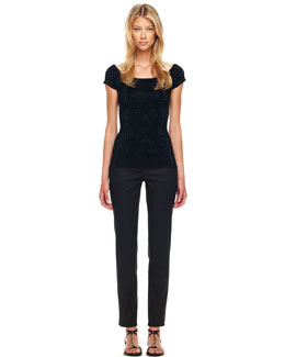 Michael Kors  Beaded Knit Top & Samantha Slim Pants