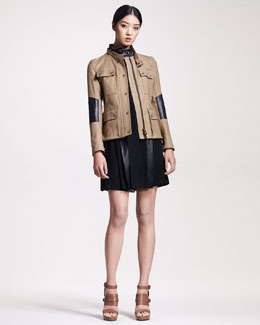 Belstaff Peterlee Leather-Trim Jacket & Arlesey Leather-Trim Dress