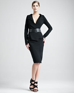 Donna Karan Structured Matte Jersey Suit & Superfine Jersey Top