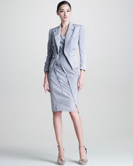 Donna Karan Mineral Paper Crushed Jacket & Mineral Paper Crushed Dress