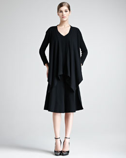 Donna Karan Draped Stretch-Knit Cozy, Tank & A-Line Skirt