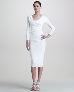 Donna Karan Jersey Draped Top & Jersey Draped Skirt