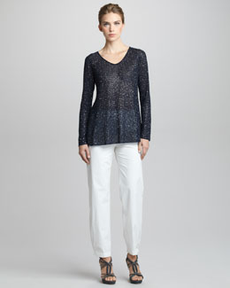 Giorgio Armani Sequined Sweater & Straight-Leg Pants