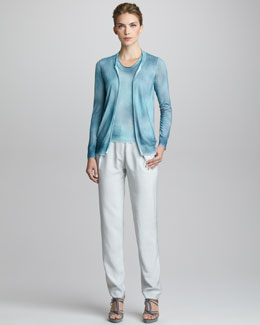 Giorgio Armani Hand-Painted Cashmere Cardigan, Tank &  Narrow Trousers with Asymmetric Seaming