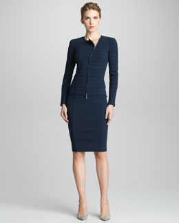 Giorgio Armani Jersey Zip Jacket &  Pencil Skirt
