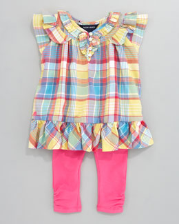 Ralph Lauren Childrenswear Plaid Tunic & Leggings Set