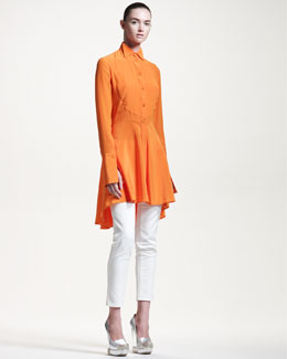 Alexander McQueen Long-Sleeve Tunic & Skinny Ankle-Length Jeans
