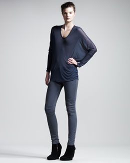 HELMUT Helmut Lang Voltage Dolman Top & Overdye Basic Leggings