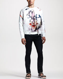 Givenchy Madonna-Print Bomber Jacket, Sweatshirt & Skinny Slit-Pocket Pants