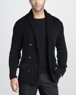 Ralph Lauren Black Label Double-Breasted Sweater Jacket & Cotton Crewneck Sweater