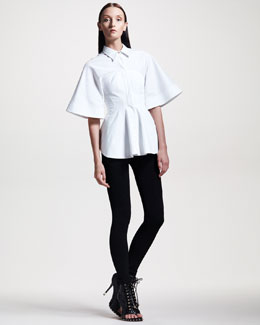 Givenchy Poplin Corset Blouse & Jersey Leggings