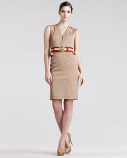 Altuzarra Topi Safari Dress & Striped Silk Belt