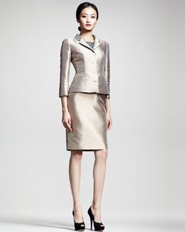 Dolce & Gabbana Silk Mikado Jacket & Lace/Mikado Sheath Dress