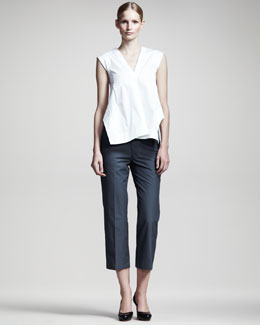 Jil Sander Noce Sleeveless Tunic & Noel Cropped Pants