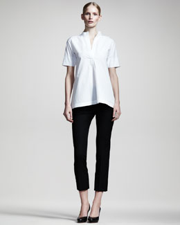 Jil Sander Nube Half-Sleeve Tunic & Niccolo Straight-Leg Cropped Pants