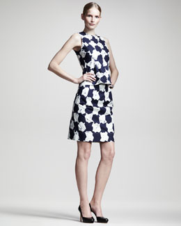 Jil Sander Nenia Houndstooth-Print Top & Neutro Skirt