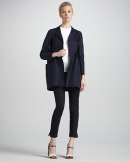 Jil Sander Sculptural News Coat, Round-Neck Tee & Nandolf Legging Pants