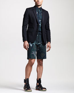 Givenchy Two-Button Blazer, Airplane-Print Sport Shirt & Bermuda Shorts