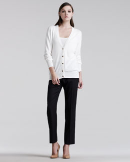 Maison Martin Margiela Elbow-Patch Cardigan & Easy-Fit Tailored Pants