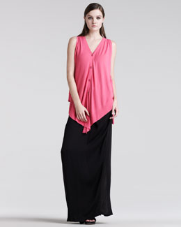 Maison Martin Margiela Sleeveless Cardigan & Pleated Maxi Skirt