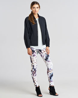 Theyskens' Theory Junter Fotorious Lightweight Jacket, Ballah Fayl Silk Top & Pittel W Iwondra Pants