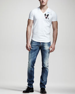 DSquared2 Slim-Fit Bulldog Tee & Distressed Slim Jeans