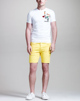 DSquared2 Slim Parrots Tee & Bull Denim Shorts