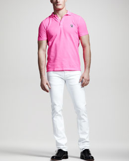 DSquared2 Classic-Fit Bulldog Polo & Garment-Dyed Five-Pocket Pants
